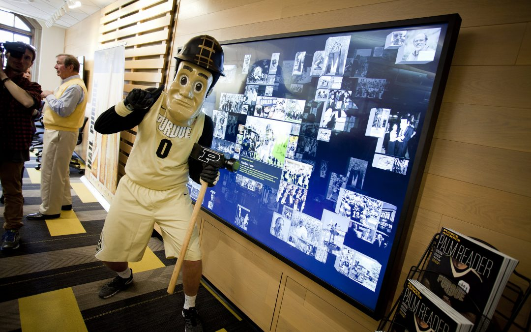 VisionThree Creates a Modern, Interactive Media Experience for Purdue Alumni's Boilermaker Station.